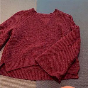 Madewell maroon sweater